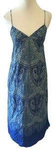 Blue and Green Maxi Dress by Gap Paisley