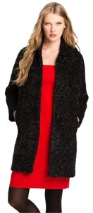 Kate Spade Fringed Holiday Cocoon Winter Tinsel Pea Coat