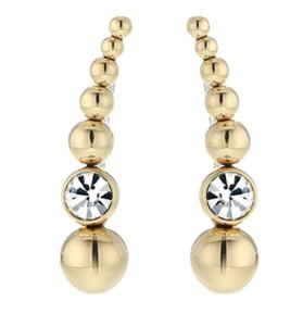 Michael Kors NWT MICHAEL KORS BEADED EAR CLIMBERS EARRINGS FOLD CLEAR W BAG MKJ5512