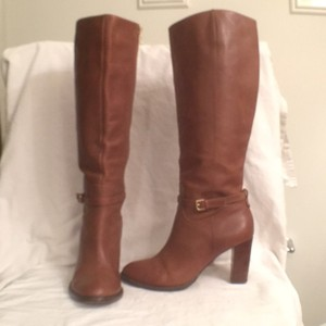 Ivanka Trump Leather Zippered Knee-high Comfortable brown Boots