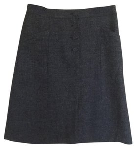 H&M Tweed Winter Office Skirt Grey