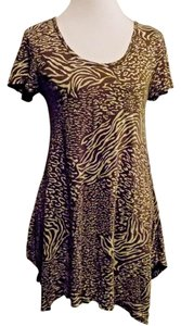 Fresh Produce short dress Brown and Beige Stretchy Tunic on Tradesy