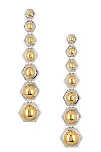 Rachel Zoe Mixed Metal Geometric Drop Earrings