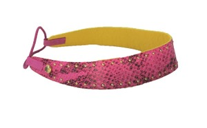 Juicy Couture Snake Print Leather Stretch Headband Pink Cerise YTRUA555