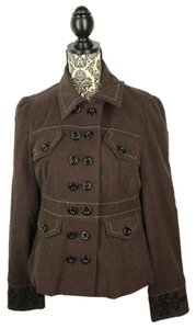 Anthropologie Military Jacket Brown Blazer