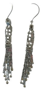 14K/SS Beaded Fringe drop earrings