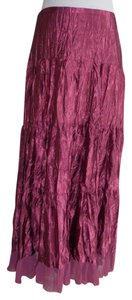 Eyeshadow Maxi Skirt Maroon like color