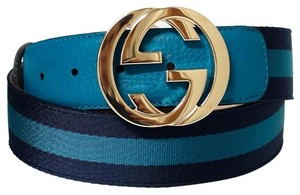Gucci GUCCI 114876 Nylon Web Belt with Interlocking G Buckle 95 - 38