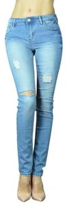Skinny Jeans-Distressed