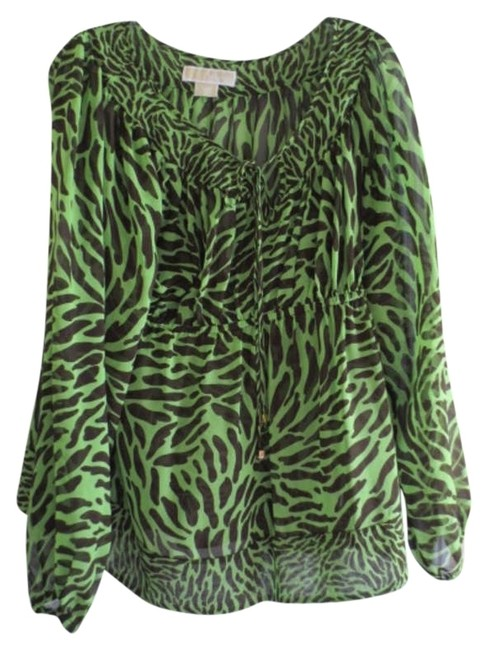 Preload https://item2.tradesy.com/images/michael-kors-green-blouse-size-12-l-197331-0-0.jpg?width=400&height=650
