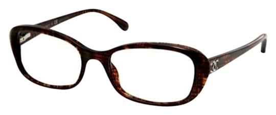 Chanel CH 3218 1204 - Brown Tweed Semi-Round Glasses ...