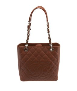 Chanel Quilted Leather Tote in Brown