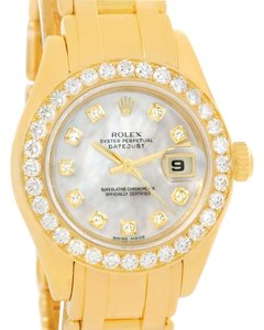 Rolex Rolex Pearlmaster Yellow Gold Mother of Pearl Diamond Watch 80298
