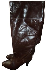 Coach Over The Calf Q261 Millie Brown Boots