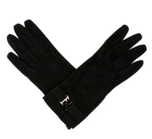 Fendi Fendi,Black,Suede,Gloves