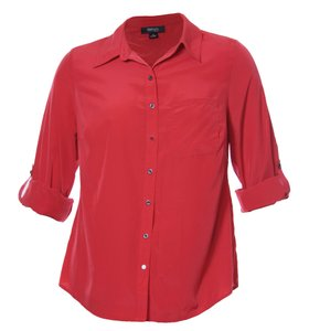 Style & Co Button Down Shirt Red