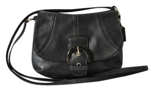 Coach Buckle Leather Cross Body Bag