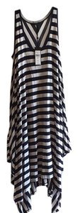BCBGMAXAZRIA short dress Navy/white Combo on Tradesy