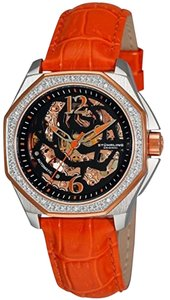 Sthrling Stuhrling Original 231S.1115F1 Aquadiver Nemo Rose Skeleton Watch