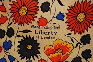 Liberty of London LIBERTY OF LONDON VINTAGE Collectible Silk FLORAL Square