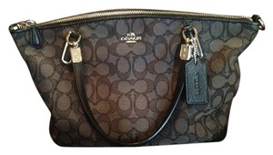 Coach Satchel in Black/Grey