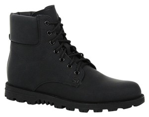 Gucci Women's Rubberized Lace Up Ankle Black Boots