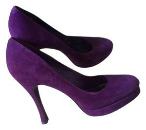 BCBGeneration Leather Suede Purple Pumps