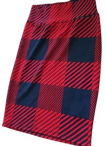 LuLaRoe #plaid #skirt #lularoe #cassie Skirt Red blue plaid