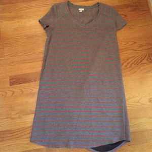 Merona short dress Orange and grey on Tradesy
