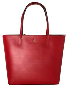 Kate Spade Shoulder Shopper Tote in Cherry Liquor Red
