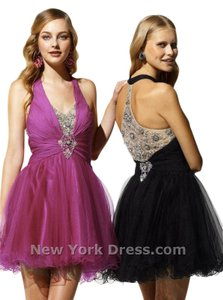 Terani Couture Homecoming Sheer Halter Dress