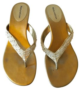 Naturalizer Formal Sparkle champagne gold Sandals