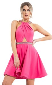 Rachel Allan Homecoming Cutout Bejeweled Dress