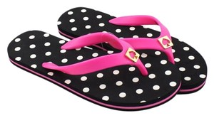 Kate Spade PINK BLACK WHITE Sandals