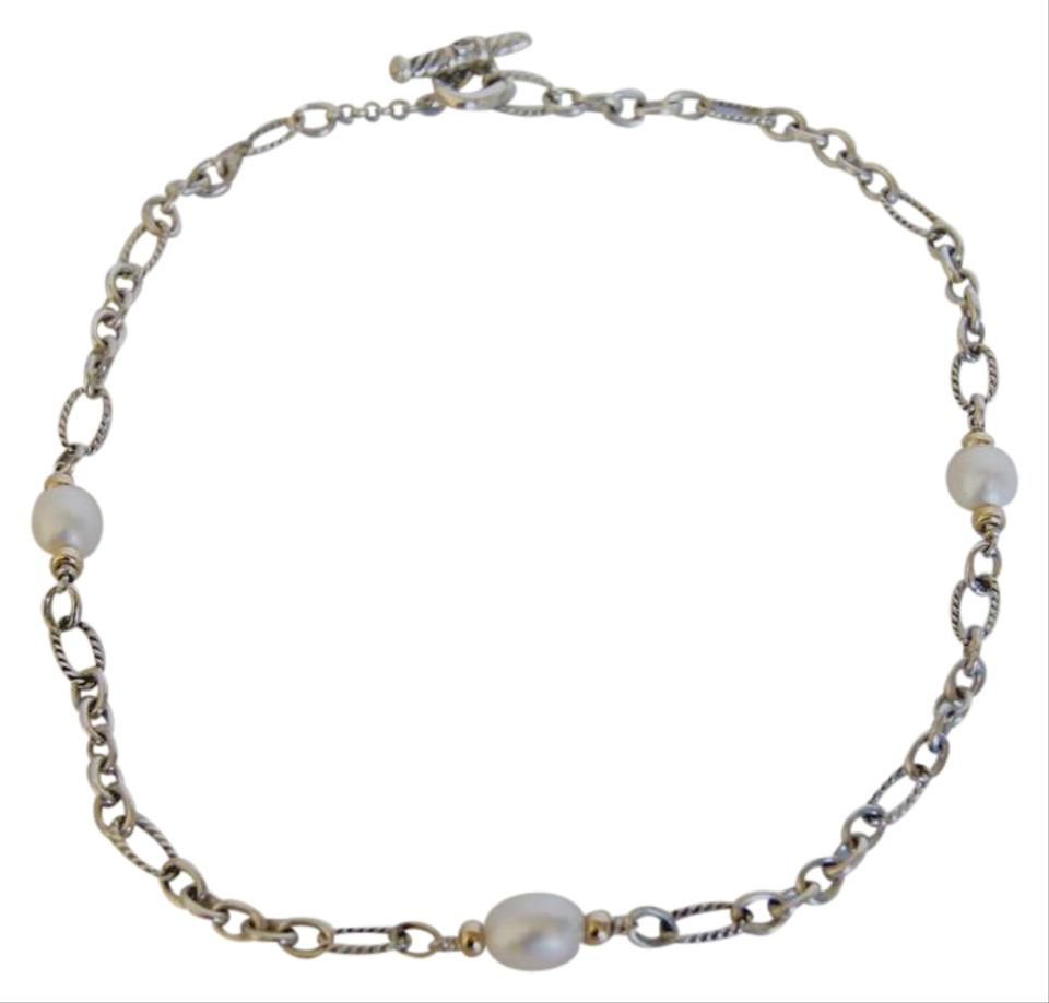 triple sterling yellow silver i tradesy pearls gold strand necklace
