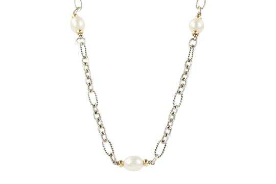 David Yurman 18K Gold and Pearl Chain Image 1