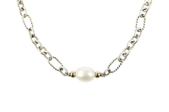 David Yurman 18K Gold and Pearl Chain Image 2