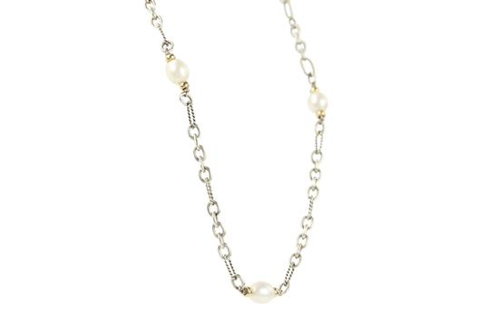 David Yurman 18K Gold and Pearl Chain Image 3