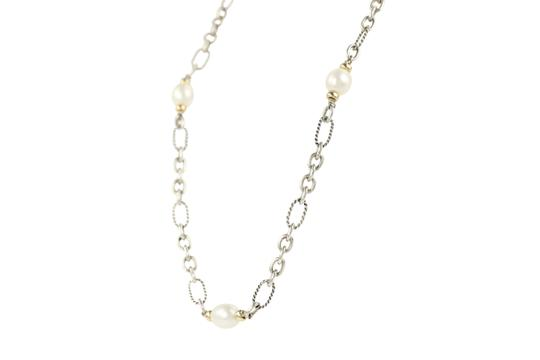 David Yurman 18K Gold and Pearl Chain Image 4