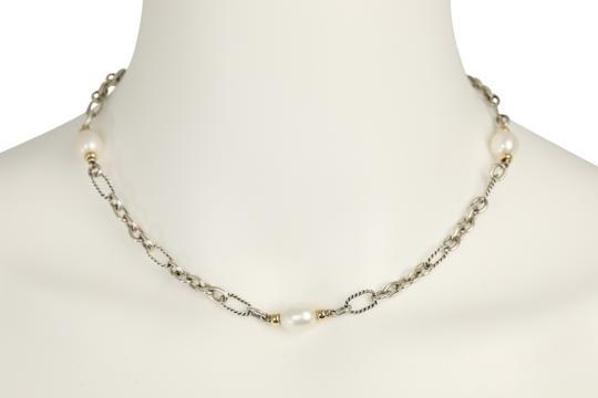 David Yurman 18K Gold and Pearl Chain Image 8