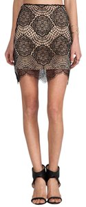 For Love & Lemons Grace Lace Mini Skirt black