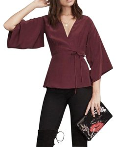 Reformation Top Burgundy