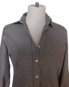 Façonnable Button Down Shirt Black and white