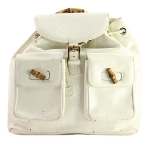 Gucci Bamboo White Ivory Backpack