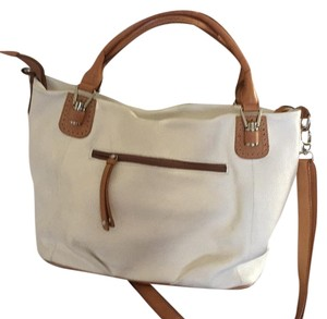 Cluadia Firenze Satchel in White And Brown