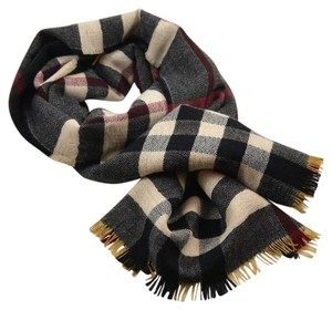Burberry Reversible Color Check Wool Scarf