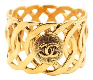 Chanel #8864 Extraordinary CC sunburst interwoven XL wide cuff