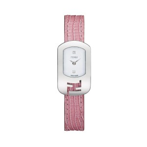 Fendi Fendi Chameleon Watch Pink/white With Diamond Accents