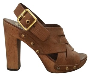 Tory Burch Toffee Brown Mules