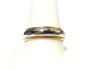 Tiffany & Co. Tiffany & Co 18K Yellow Gold & Platinum Ring Band Size 11